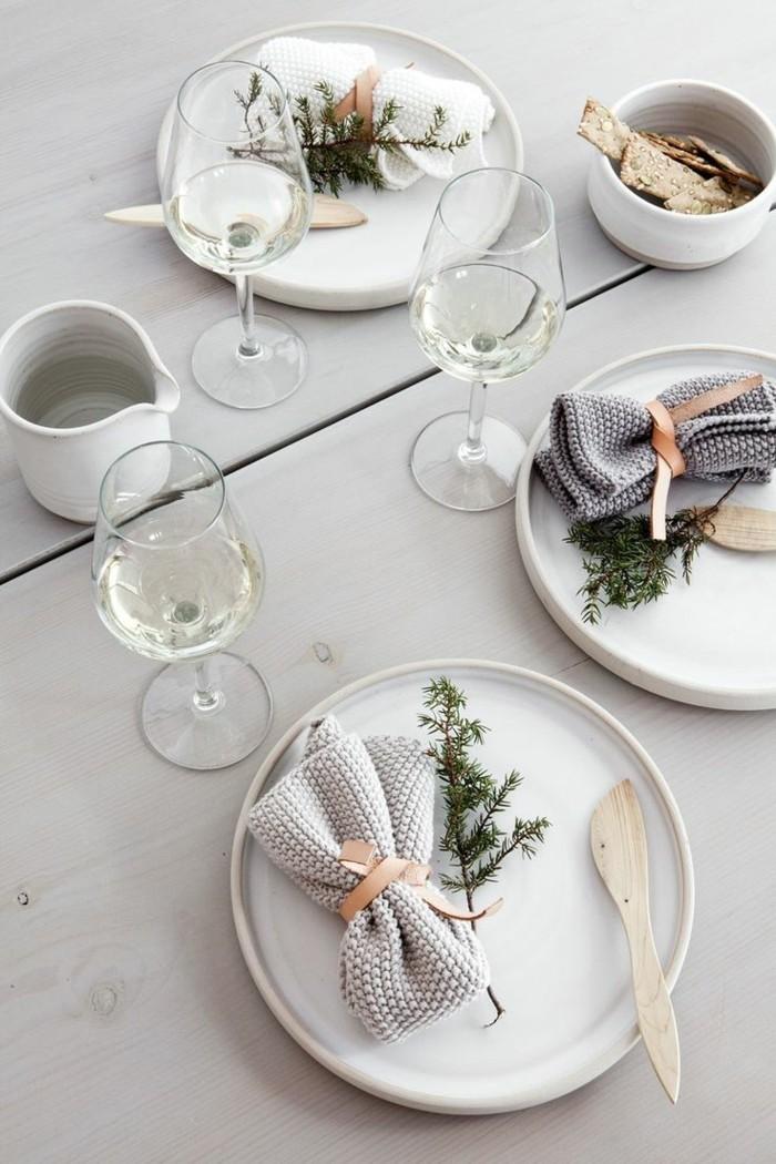 skandinavische tischdekoration weihnachten hochzeit