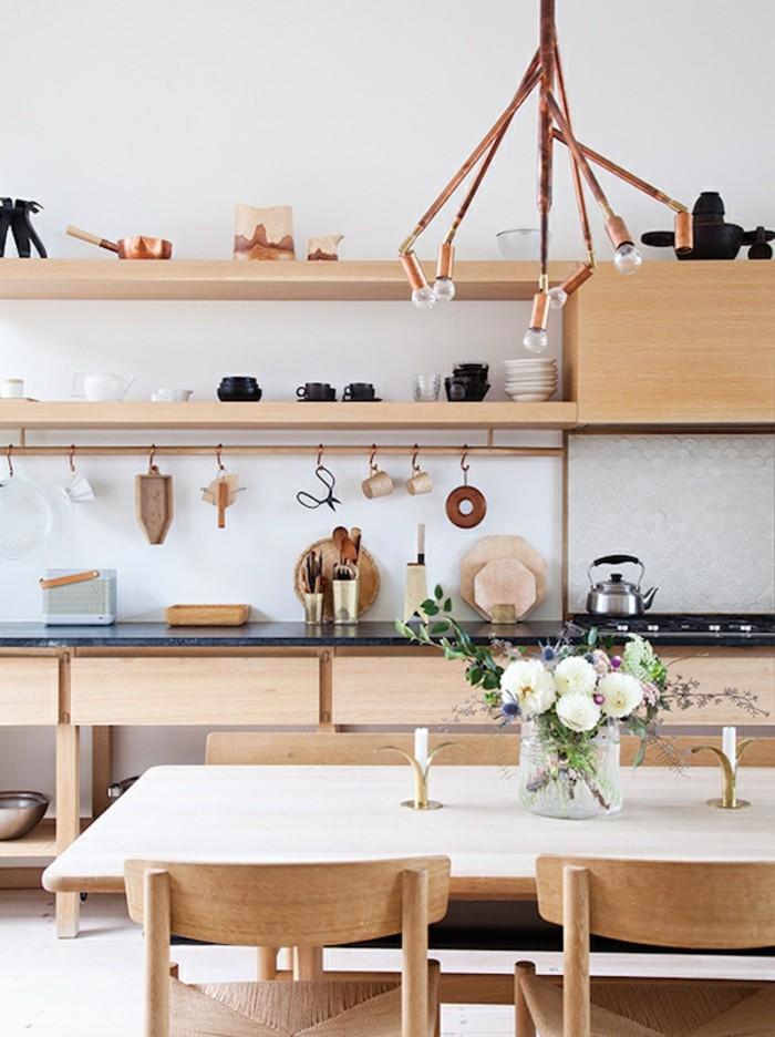 stauraum ideen geschirr und geräte in der küche aufhängen