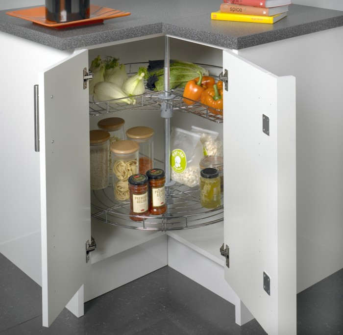 stauraum küche karussell in der modernen küche