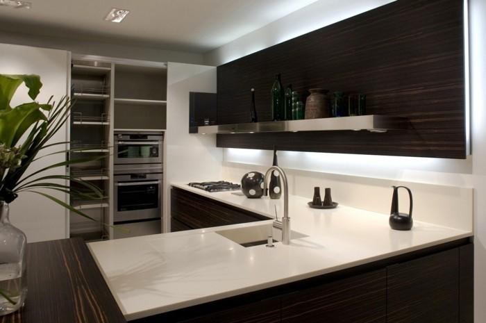 stauraum küche moderne offene regale machen eine schöne präsenz
