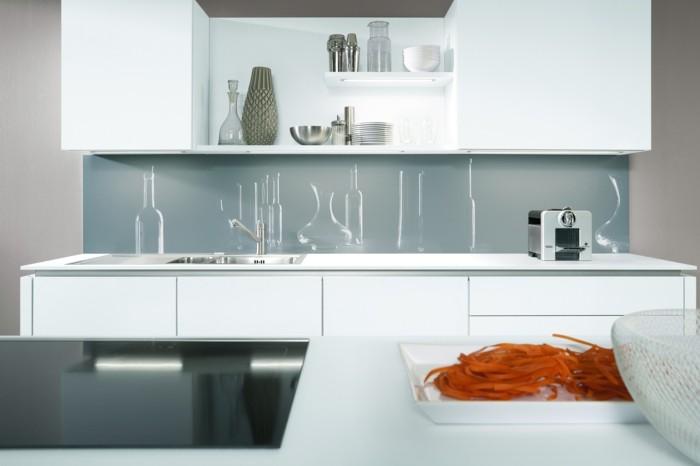 stauraum küche weiße küchenschränke