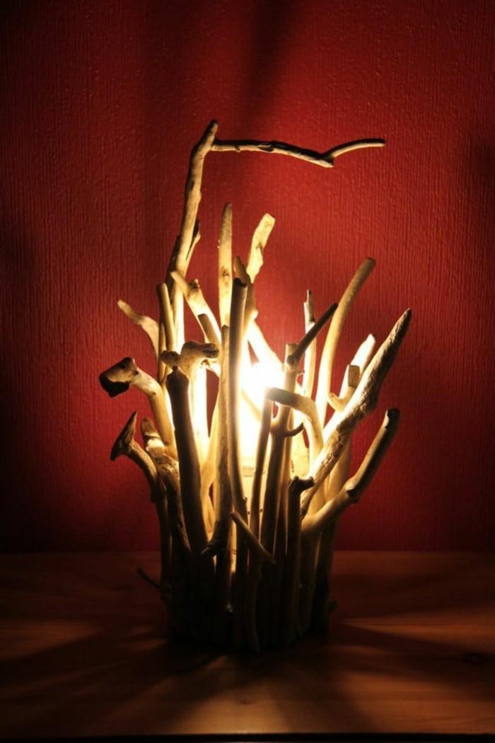 treibholz lampe diy ideen indirektes licht