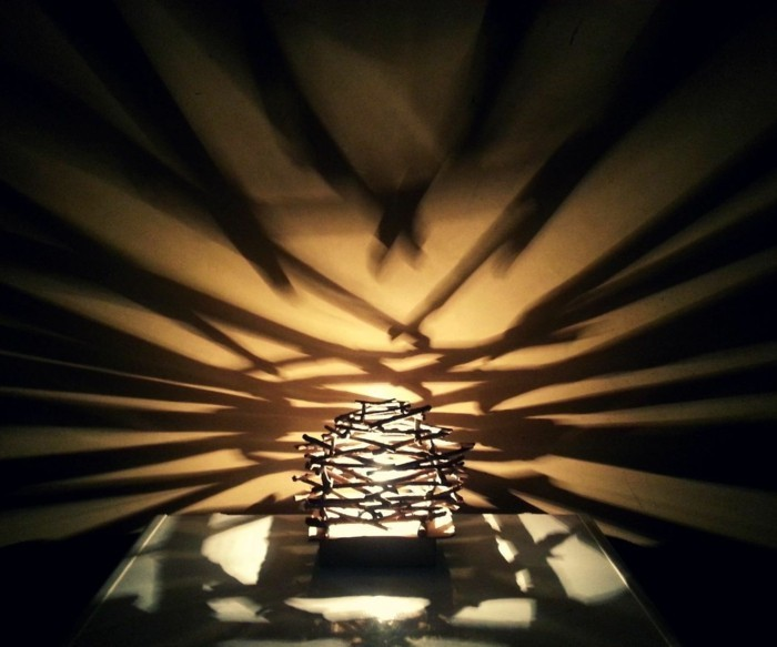 treibholz lampe diy ideen licht schatten