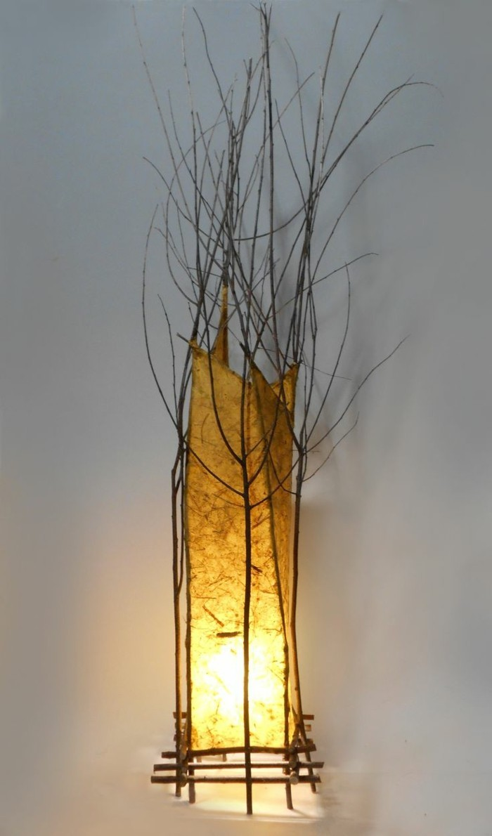 treibholz lampe diy ideen organische form