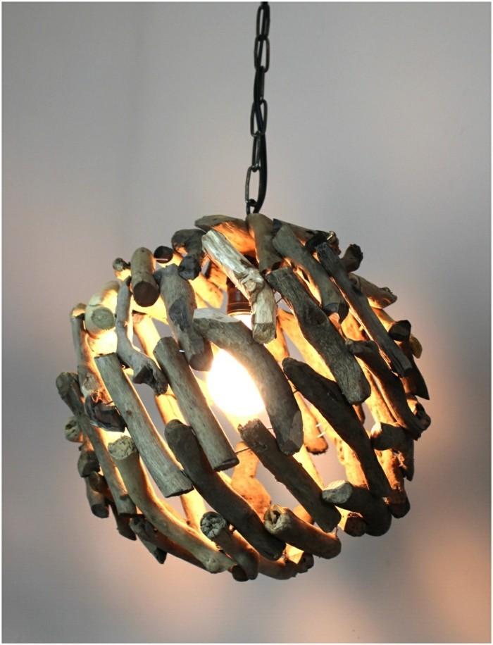 treibholz lampe diy ideen rund