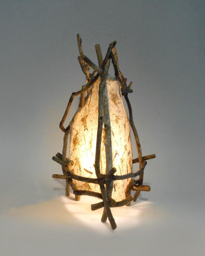 treibholz lampe diy ideen schein