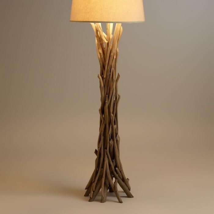treibholz lampe diy ideen stehlampe3