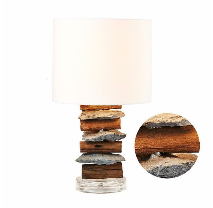 treibholz lampe diy ideen stein basteln naturmaterialien