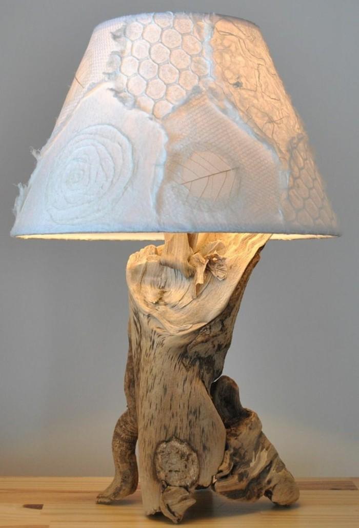 treibholz lampe diy ideen tischleuchte lampenschirm