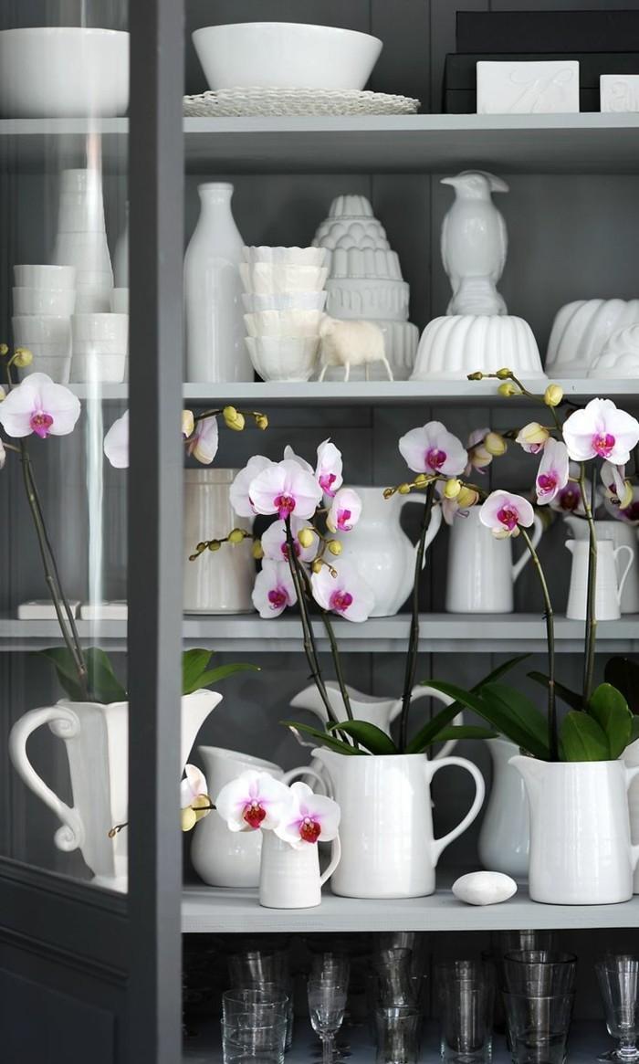 weiße orchideen diy deko