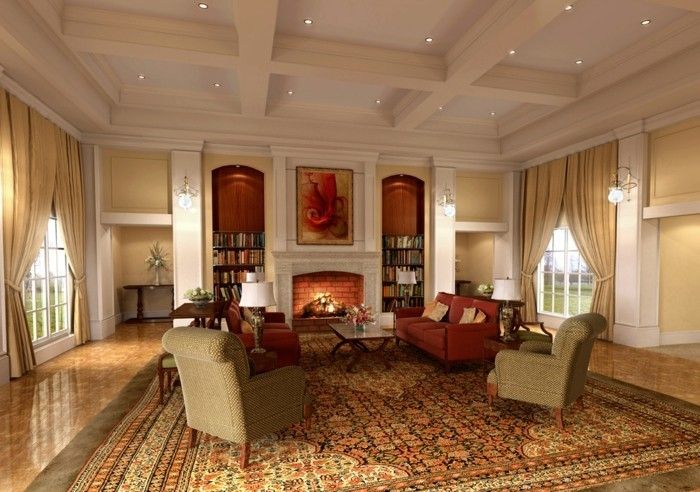 wohnideen wohnzimmer klassisches wohnzimmer in warmen farbtönen