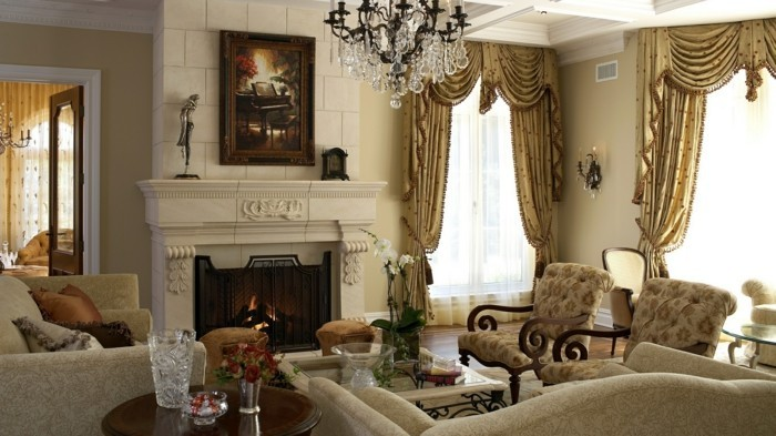 Living room Classic-style living room for elegant comfort and stylish tranquility