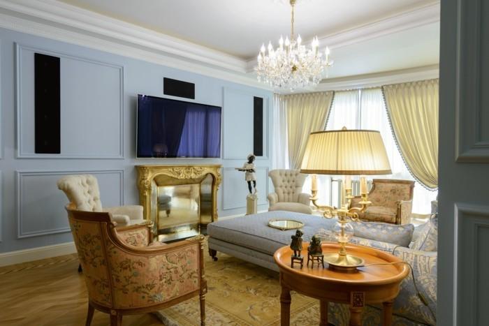 wohnzimmer einrichten ideen im klassischen stil frische muster und schönes raumklima