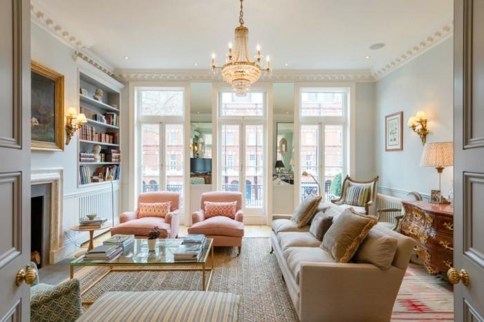 wohnzimmer einrichten ideen modernes innendesign mit klassischen zügen