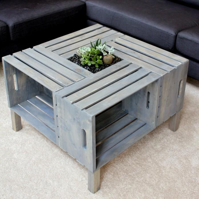 wohnzimmer tisch aus paletten