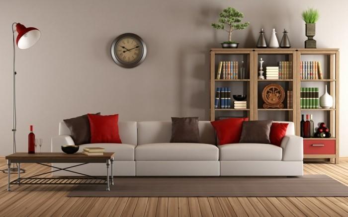 wohnzimmer tisch schönes design seitlich positioniert