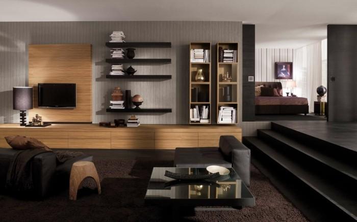 wohnzimmer tisch stilvoller couchtisch mit gläserner oberfläche
