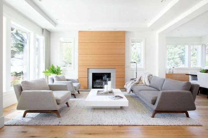 wollteppich im wohnzimmer kontrast zum bodenbelag