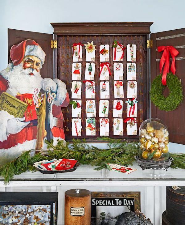 Adventskalender selber machen der weihnachtsman fröhliche stimmung