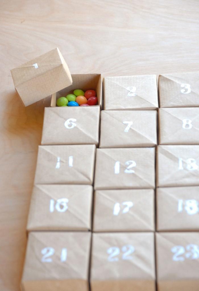 Adventskalender selber machen kleine boxen überraschungen