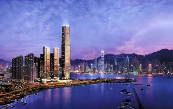 Architektur City Center von Hong Kong