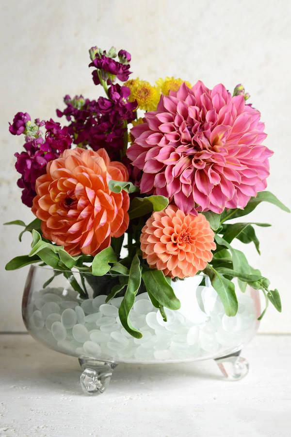 Chrysanthemen Vase verschiedene Farben
