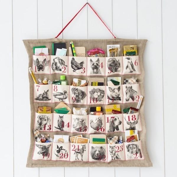 Coole Adventskalender Ideen deko tiere überraschungen