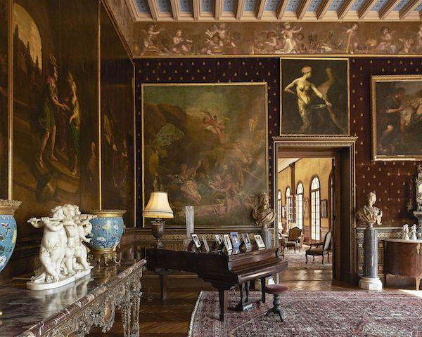 Deckenhohe Gemälde Musikraum herrliche Innenarchitektur