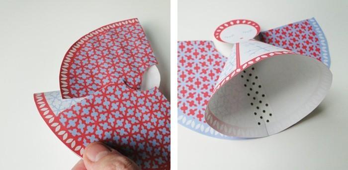 Engelsfluegel basteln mit pappteller basteln anleitung cd rohling ausmalen und einrollen