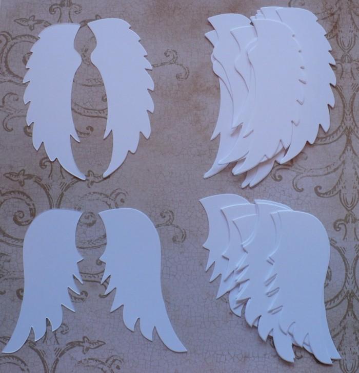Engelsfluegel basteln mit pappteller basteln mit papier
