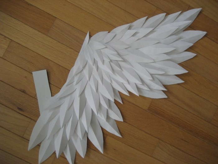 Huge Angel Wings Painted On Wall