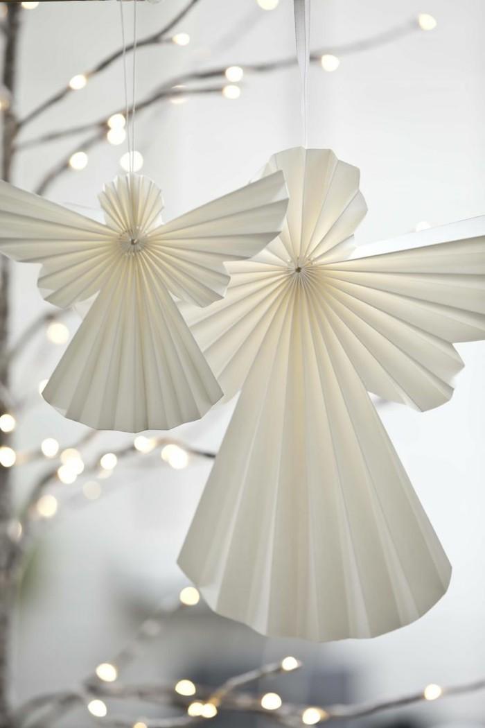 Engelsfluegel basteln mit pappteller basteln weihnachtsschmuck