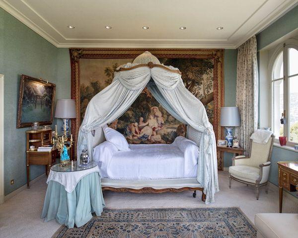 Französische Architektur Villa Les Ceders Schlafraum