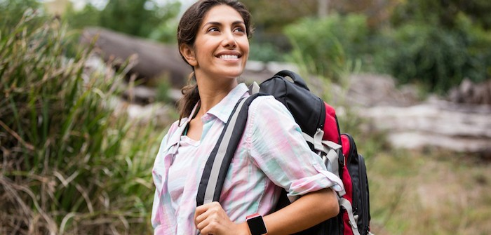 Frau ab 40 Wanderung gute Gesundheit