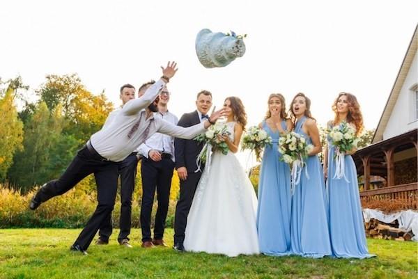 Hochzeitsfeier etwas Unerwartetes passieren