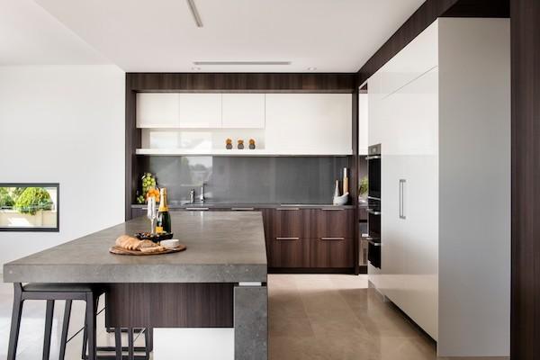beton arbeitsplatte in der kuche design ideen bilder, küchenarbeitsplatte aus beton – pros und contras im Überblick, Design ideen