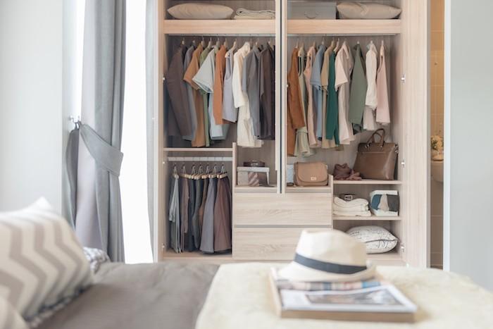 Kleiderschrank Übersicht Ordnung