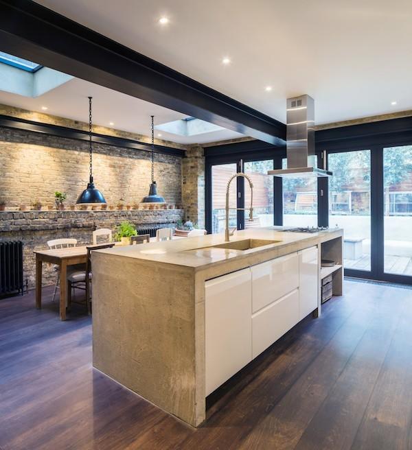 Küche Industriestil Küchenarbeitsplatte aus Beton