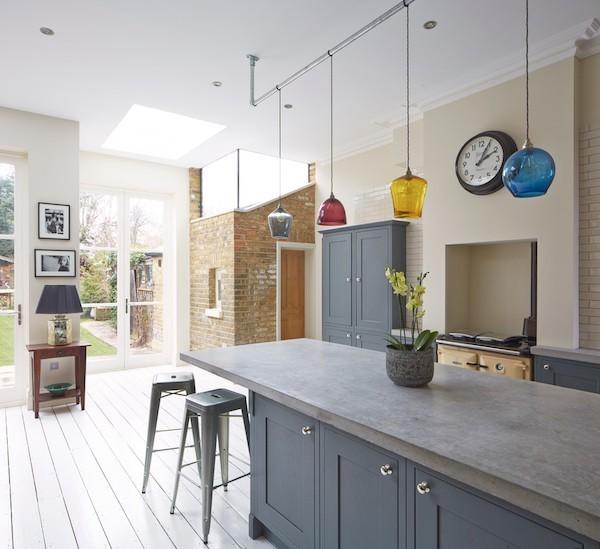 Küche im Industrial Style Küchenarbeitsplatte Beton