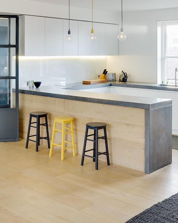 Küchenarbeitsplatte Beton Hygiene in der Küche