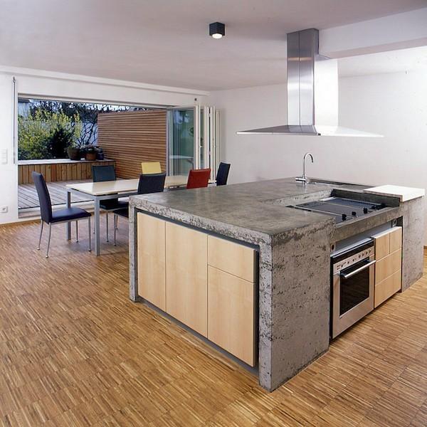 Küchenarbeitsplatte Beton keine aggressive Reinigungsmittel verwenden