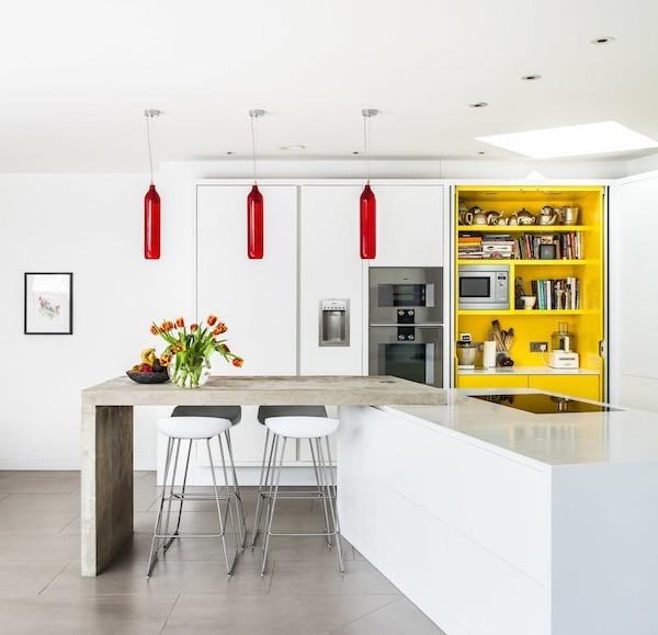Küchenarbeitsplatte Beton stabil kratz-und wasserfest