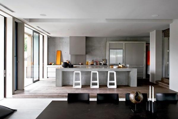 Küchenarbeitsplatte aus Beton Küche im Industriestil