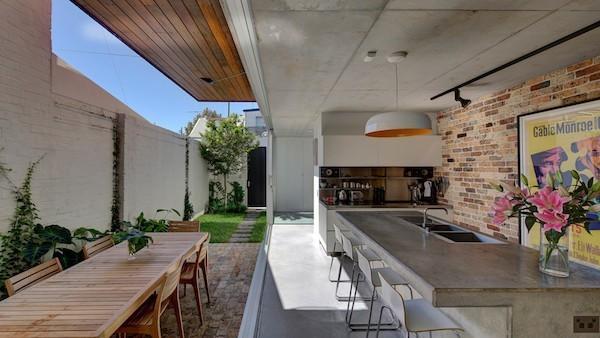 Küchenarbeitsplatte aus Beton echter Hingucker