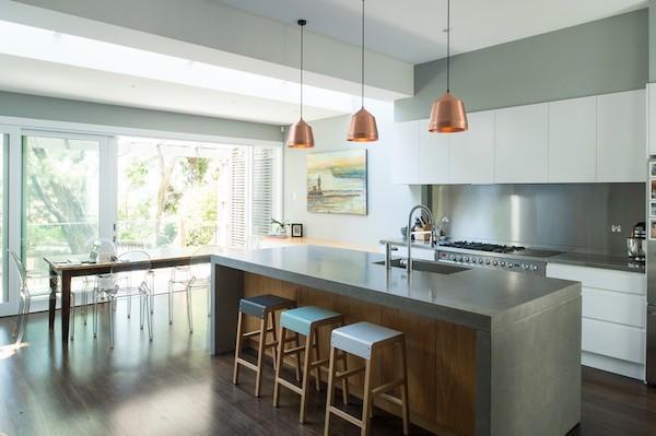 Küchenarbeitsplatte aus Beton robust hitzebeständig