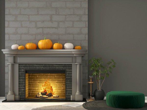Arrangieren Sie Einige Kürbisse Je Nach Ihrer Größe Auf Dem Kaminsims Und  Sie Haben Bereits Eine Herbstliche Dekoration Zu Hause