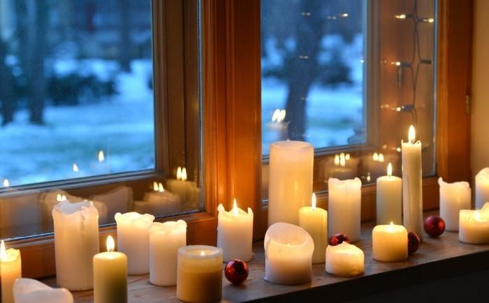 Mit Kerzen dekorieren wohnliche Atmosphäre kreieren