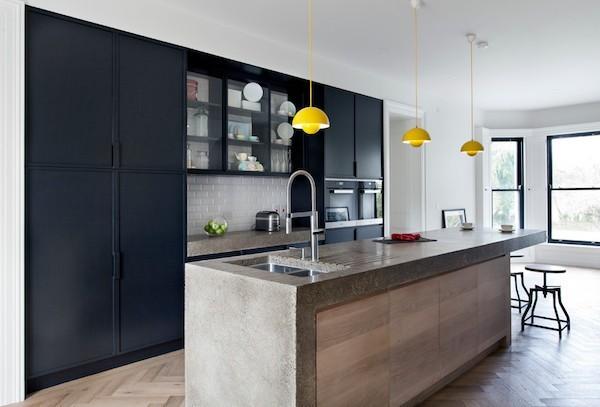 Pros und Contras Küchenarbeitsplatte aus Beton
