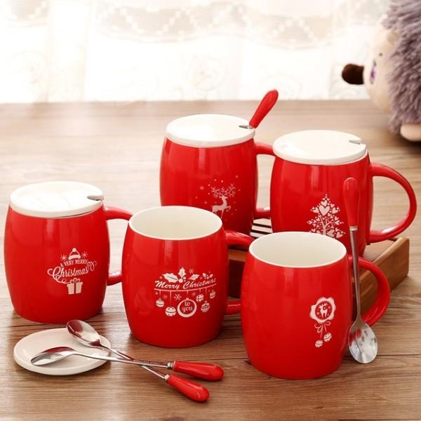 Rotes Becher-Set stilvoll auffällig Weihnachtsgeschenk