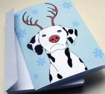 Weihnachtskarten selber basteln und Freunde und Verwandte auf klassischem Weg begrüßen